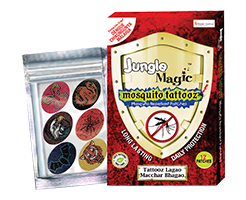 Jungle magic mosquito tattooz box sticker